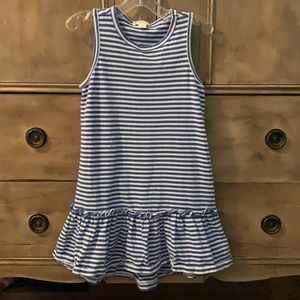 Crewcuts striped ruffle bottom tank dress